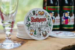rothaus bierdeckel design