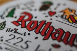 rothaus bierdeckel logo detail